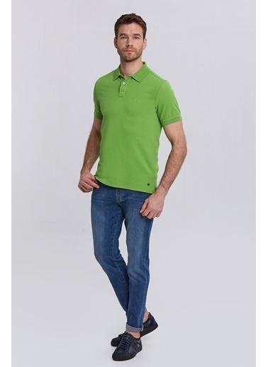 Hemington Vintage Görünümlü Polo Yaka T-Shirt Yeşil